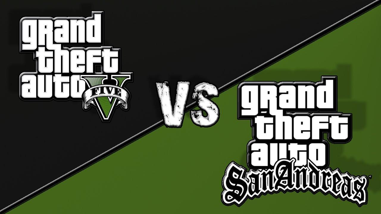 GTA 5 vs. GTA San Andreas